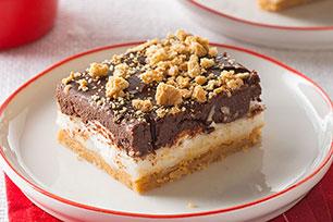 Barritas de mantequilla de maní con chocolate y malvaviscos