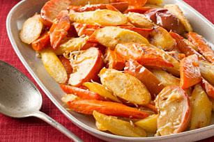 Légumes-racines et pommes grillés