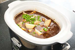 Slow-Cooker Beef Stew with Potatoes and Peas Image 1