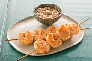 Shrimp Satays with Peanut Sauce
