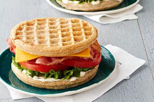 Waffle BLT with Cheddar