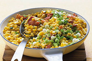 Sautéed Corn with Bacon & Green Onions