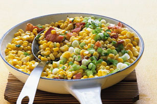 Sautéed Corn with Bacon and Green Onions Image 1