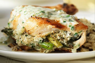 Chicken Stuffed with Asparagus and Feta Image 1