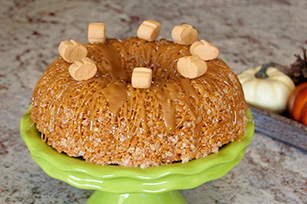 "Pumpkin Spice ""Cake"" with Drizzled Caramel Image 1"