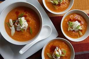 Chipotle Sweet Potato Soup with PHILADELPHIA Cream Cheese Image 1