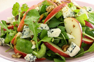 Salad Greens with Apples, Blue Cheese and Sugared Nuts Image 1