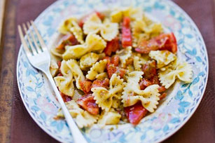 Pasta Salad with Pesto and Pan-Roasted Peppers Image 1