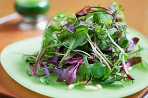 Green Salad with Almonds and Chives