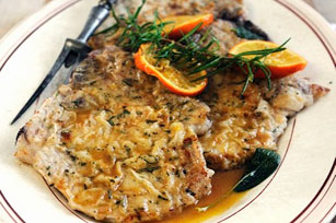 Pork Chops with Orange Rosemary Sauce Image 1
