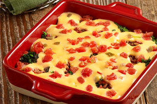 Spicy Bacon and Spinach Baked Queso