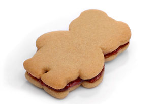 Peanut Butter and Jam Sandwich Cookies Image 1