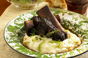 Sweet and Spicy Short Ribs with Cheesy Polenta Image 1