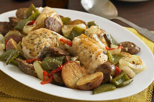 Tuscan Chicken and Sausage Bake Image 1
