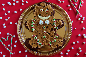 Gingerbread Marshmallow Brownie Man Image 1