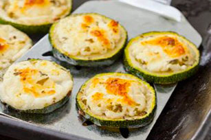 Cheesy Broiled Zucchini Slices