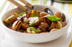 Grilled Potatoes with Jalapeño Pesto Image 1