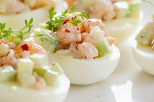 Shrimp-Stuffed Egg Appetizers Image 1