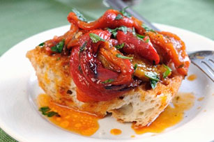 Roasted Pepper Bruschetta