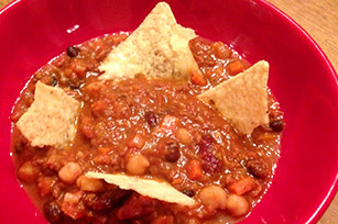 Smoky Three-Bean Beef Chili