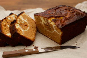 Marble Dulce de Leche and Cream Cheese Pound Cake Image 1