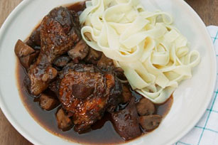 BBQ-Stewed Chicken and Pasta