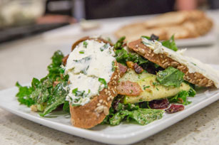 Autumn Harvest Salad with Bacon and Whipped Fromage Blanc Crostini