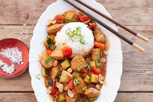 Spicy Peanut Chicken with Pineapple