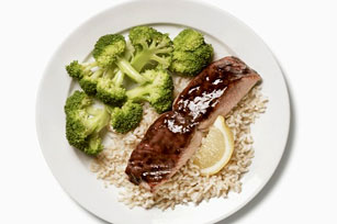 BBQ Salmon with Rice Image 1
