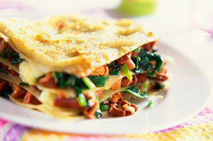 Lasagna with Mushrooms and Spinach