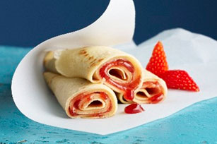 Peanut Butter & Jam-Filled Crepes