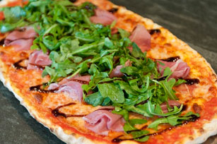 Prosciutto and Arugula Pizza with Balsamic Glaze Image 1