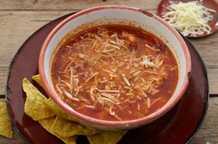 Soupe tortilla au poulet épicé Image 1