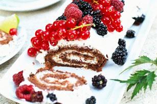 Rouleau crémeux au chocolat et aux petits fruits Image 1