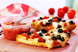 Focaccia Pizza with Fresh Salsa