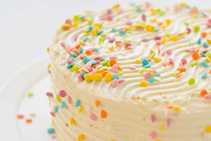 Easy Vanilla Birthday Cake Image 1