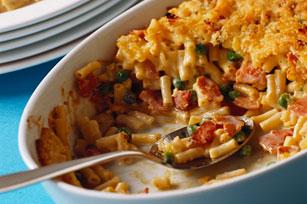 Casserole de macaroni au fromage, au bacon et aux petits pois Image 1