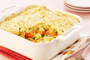 Casserole de pâtes aux petits pois, aux carottes et aux tomates Image 1