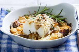 Morue au four avec fromage, carottes et bacon Image 1