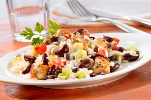 Creamy Chicken, Rice and Bean Salad Image 1