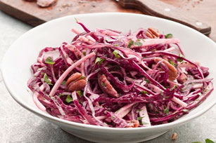 Red Cabbage Slaw with Seared Steak Image 1