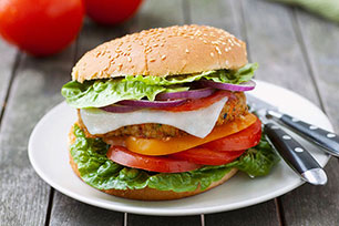 Loaded Chicken Cheeseburger