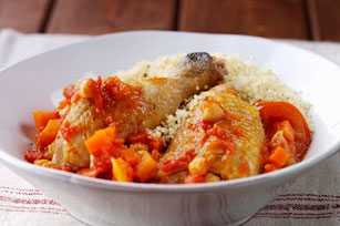 Chicken Stew with Chickpeas and Couscous