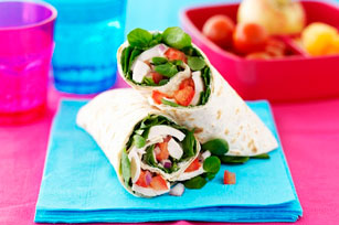 Chicken and Watercress Wraps