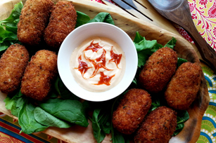 Salmon Croquettes with KRAFT Real Mayo Mayonnaise Image 1