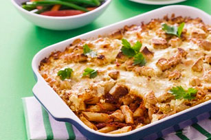 Sundried Tomato and Mozza Penne Casserole