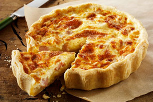 Cheesy Bacon and Onion Quiche