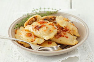 Easy Bacon and Onion Pierogies