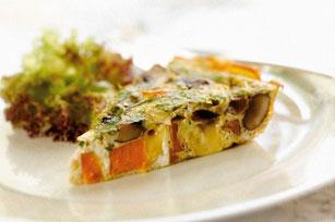 Frittata aux patates douces, aux champignons et au fromage Image 1