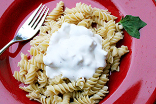 Five Minute Homemade Alfredo Sauce with Milk